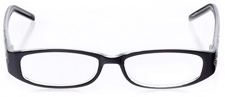 keene: women's oval eyeglasses in black - front view