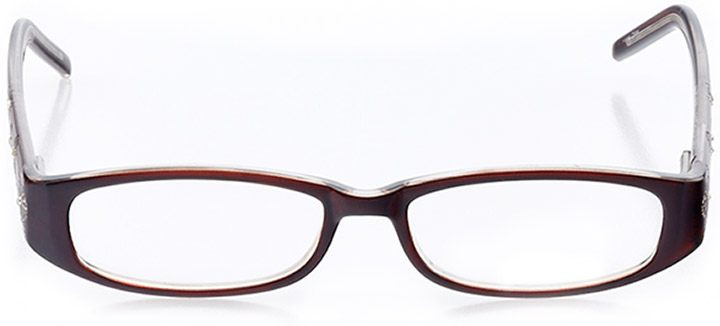 keene: women's oval eyeglasses in brown - front view