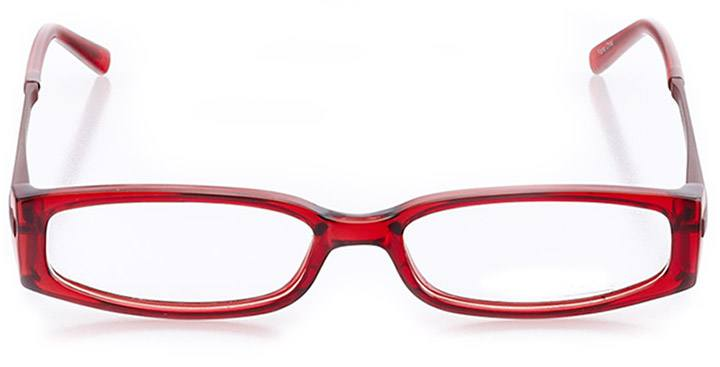 northbrook: women's rectangle eyeglasses in red - front view