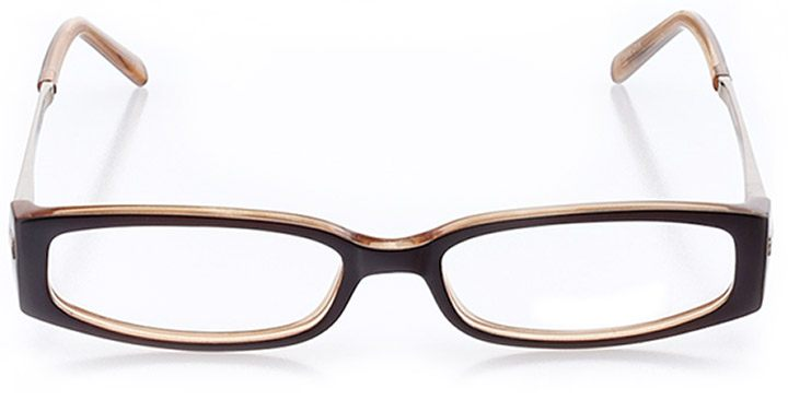 northbrook: women's rectangle eyeglasses in brown - front view