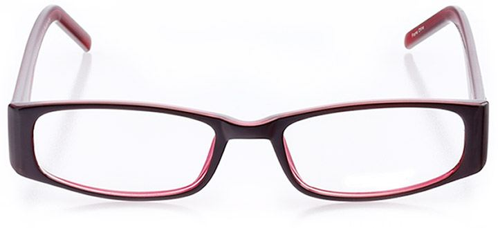 oakdale: women's rectangle eyeglasses in red - front view