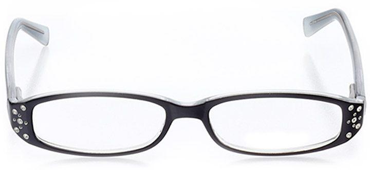 sarasota: women's rectangle eyeglasses in black - front view