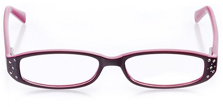 sarasota: women's rectangle eyeglasses in purple - front view