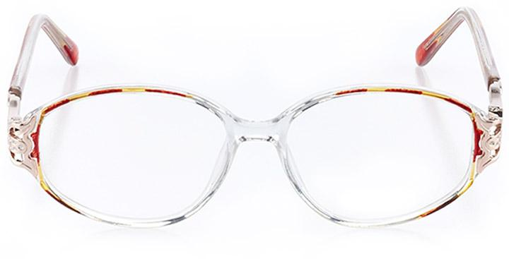 sun valley: women's oval eyeglasses in brown - front view