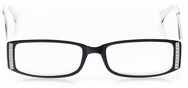 birmingham: women's rectangle eyeglasses in black - front view