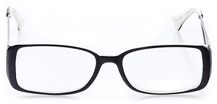 cape coral: women's rectangle eyeglasses in black - front view