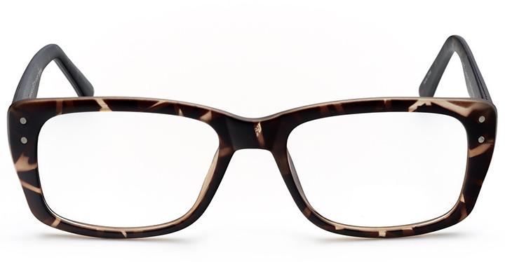 philadelphia: women's rectangle eyeglasses in tortoise - front view