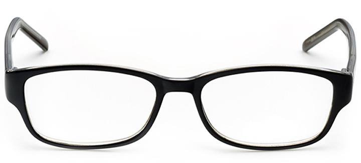 fresno: women's rectangle eyeglasses in black - front view