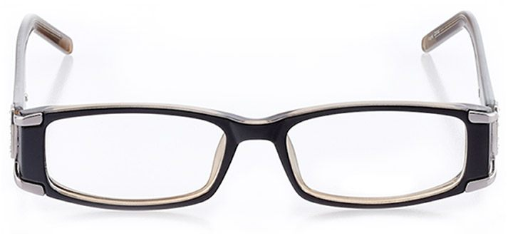 beverly hills: women's rectangle eyeglasses in black - front view