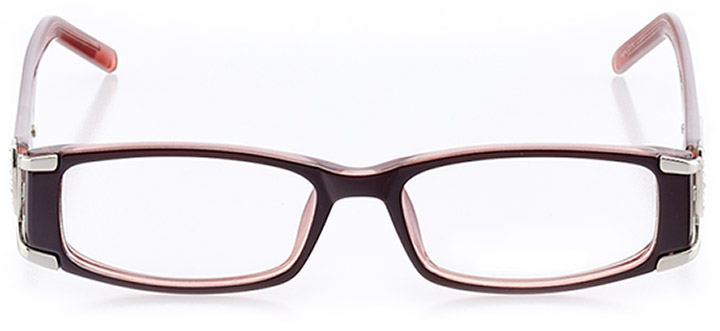beverly hills: women's rectangle eyeglasses in red - front view
