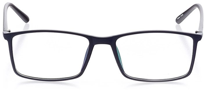 kingsland: men's rectangle eyeglasses in blue - front view