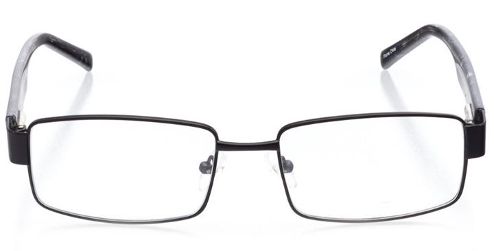 chapel hill: men's square eyeglasses in black - front view