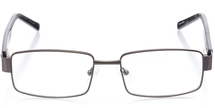 chapel hill: men's square eyeglasses in gray - front view