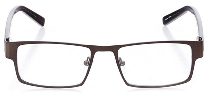 arlington: men's square eyeglasses in gray - front view