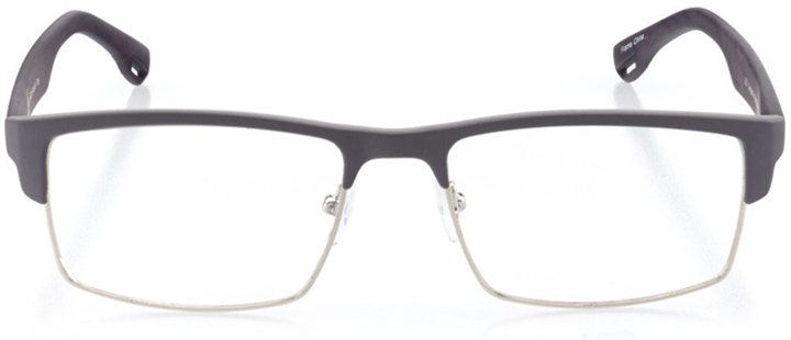 montreal: men's square eyeglasses in gray - front view