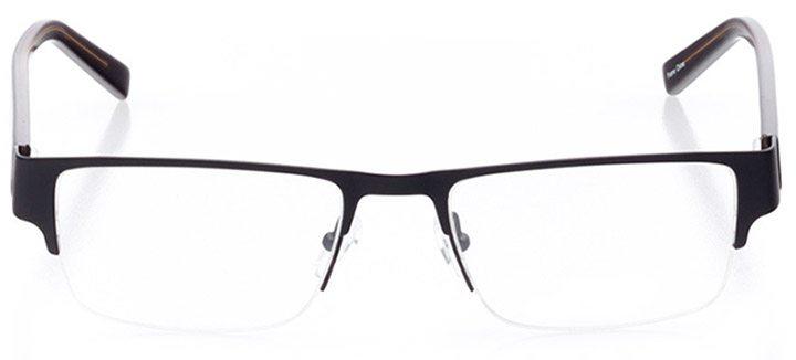 everett: men's rectangle eyeglasses in black - front view