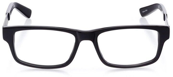 palo alto: men's rectangle eyeglasses in black - front view