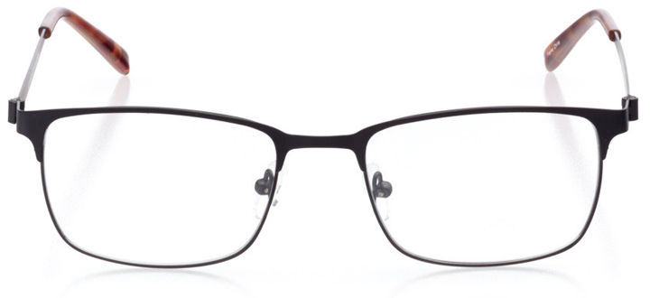 singapore: men's square eyeglasses in black - front view