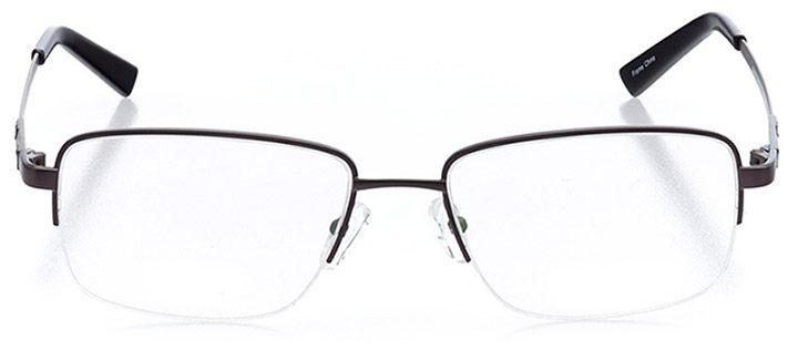 spanish banks: men's rectangle eyeglasses in gray - front view