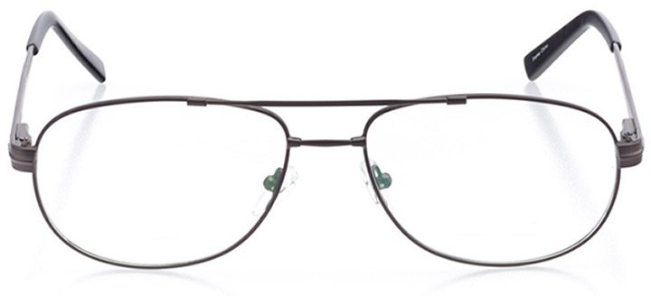 myrtle beach: men's aviator eyeglasses in gray - front view