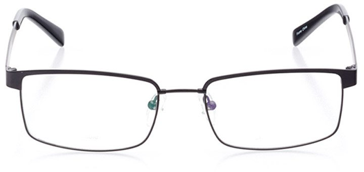silicon valley: men's rectangle eyeglasses in black - front view