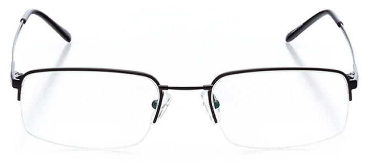 zuma beach: men's rectangle eyeglasses in black - front view