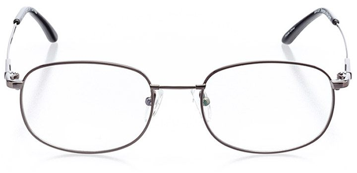topsail: men's round eyeglasses in gray - front view