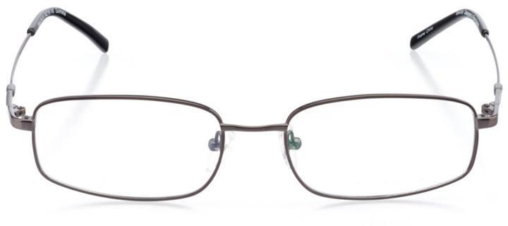 kuta beach: men's rectangle eyeglasses in gray - front view
