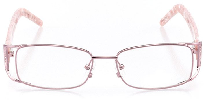 jesi: women's rectangle eyeglasses in pink - front view