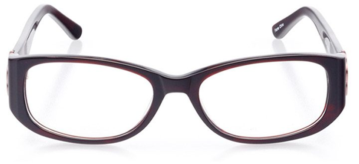 martina franca: women's oval eyeglasses in red - front view
