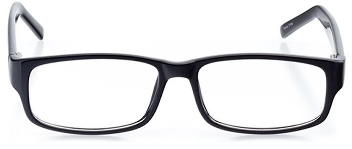 brescia: men's rectangle eyeglasses in black - front view