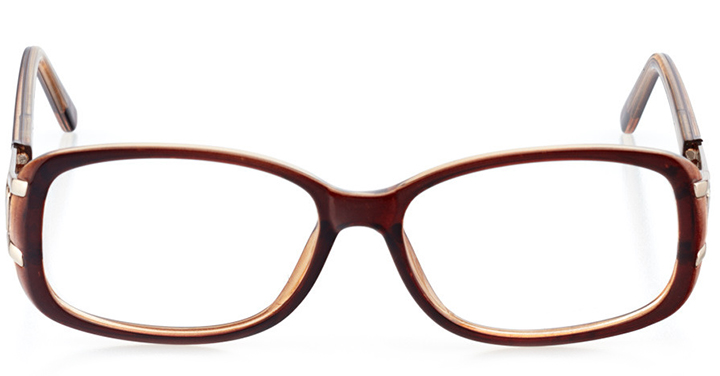 bonn: women's rectangle eyeglasses in crystal - front view