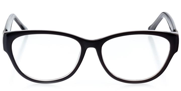 cairo: women's cat eye eyeglasses in crystal - front view