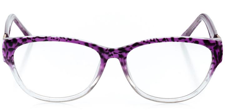 cairo: women's cat eye eyeglasses in purple - front view