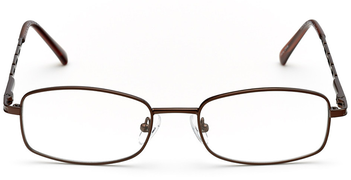 charlotte: women's rectangle eyeglasses in brown - front view