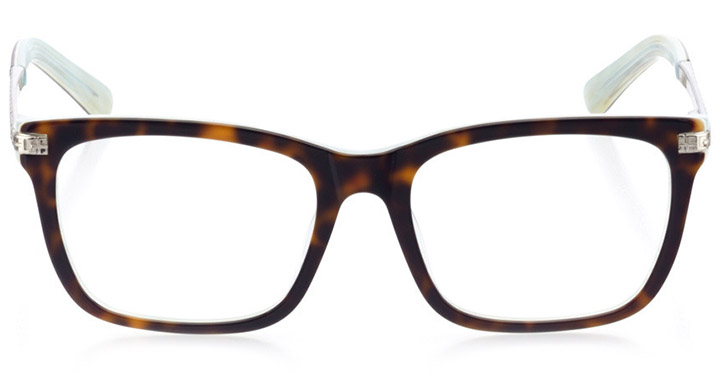 arcadia: women's square eyeglasses in blue - front view