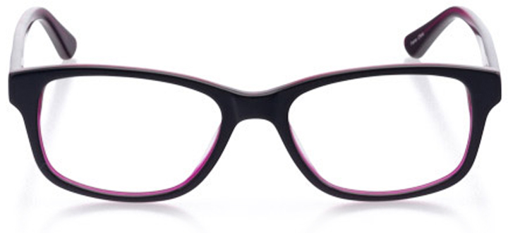 athens: women's rectangle eyeglasses in purple - front view