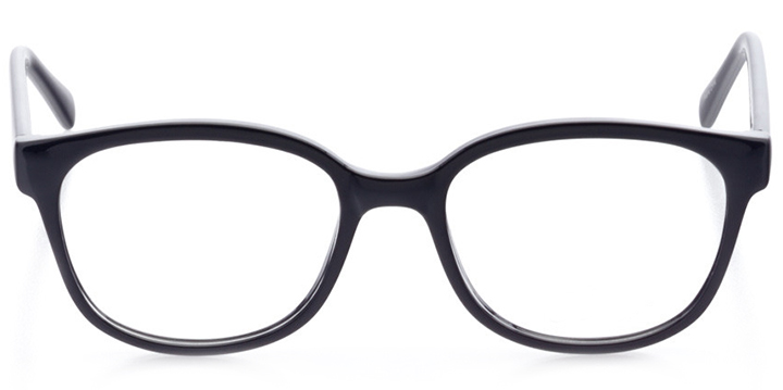 san francisco: women's cat eye eyeglasses in black - front view