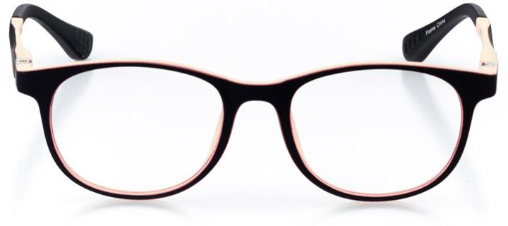 berkeley: girls' round eyeglasses in pink - front view