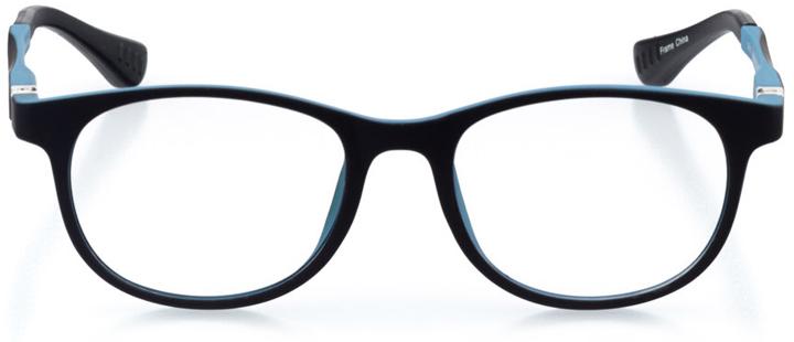 berkeley: round eyeglasses in blue - front view