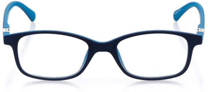 long beach: rectangle eyeglasses in blue - front view