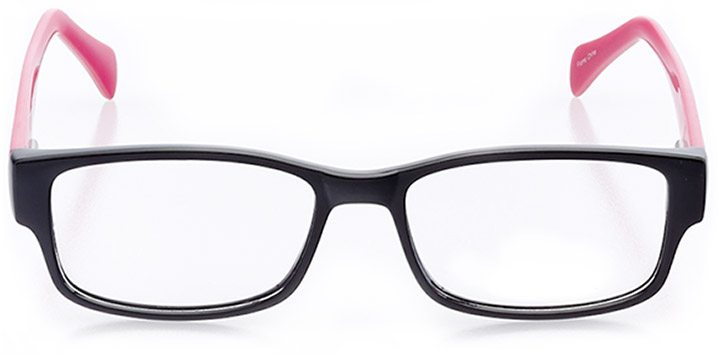 seaside: women's rectangle eyeglasses in pink - front view