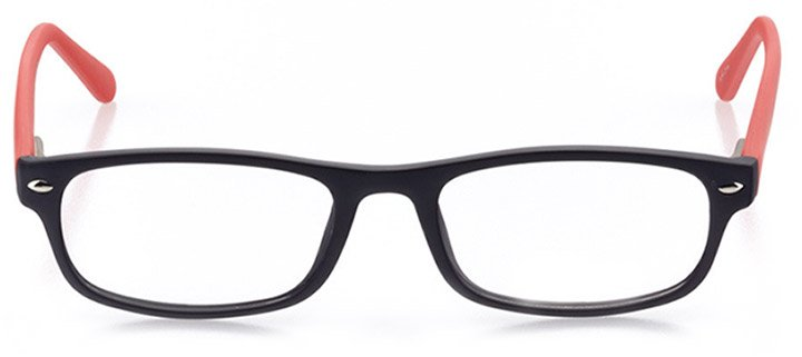 surf city: women's rectangle eyeglasses in red - front view