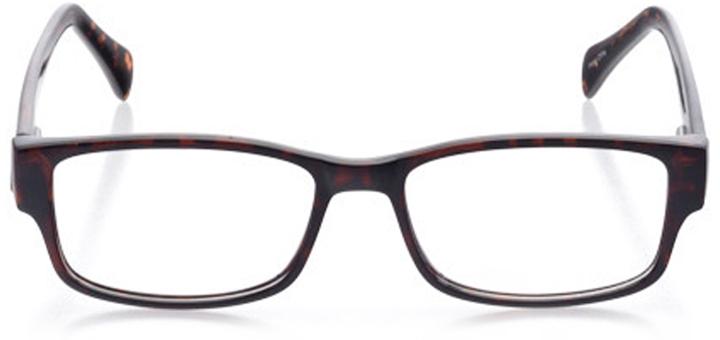 folly beach: men's rectangle eyeglasses in tortoise - front view