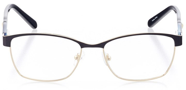 cori: women's square eyeglasses in gold - front view