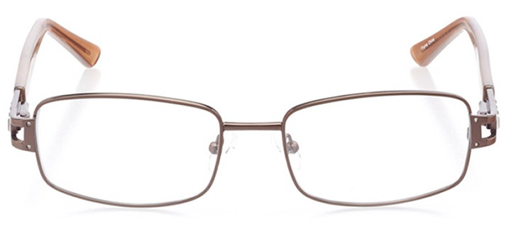 sora: women's rectangle eyeglasses in brown - front view