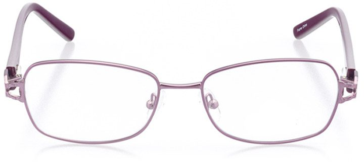 chiavari: women's rectangle eyeglasses in purple - front view