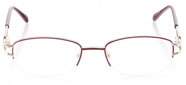 san remo: women's oval eyeglasses in purple - front view