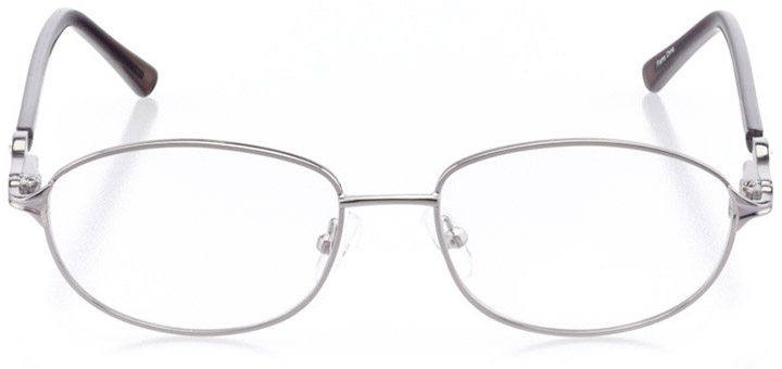 rapallo: women's oval eyeglasses in gray - front view