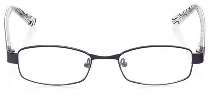 sarzana: women's rectangle eyeglasses in black - front view